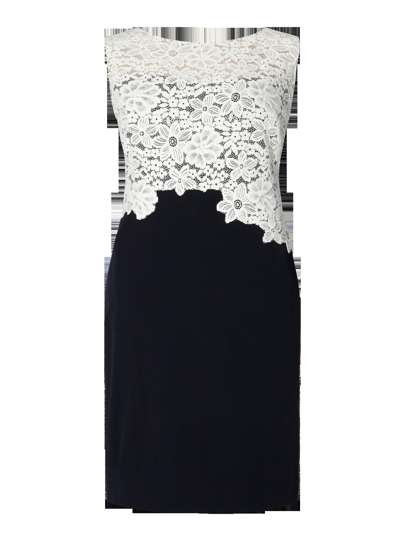LAUREN-RALPH-LAUREN PLUS SIZE - Kleid mit Kontrastbesatz aus Spitze ...