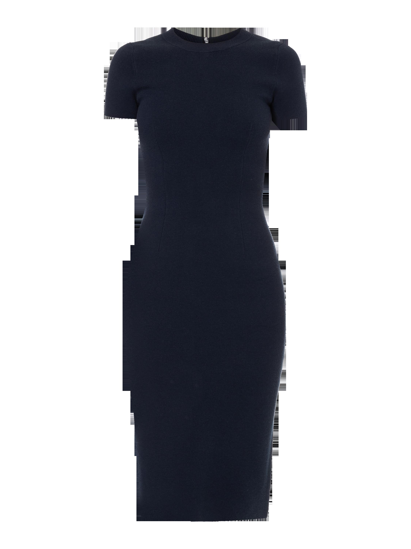 fb8dc0b5912940 STEFANEL Strickkleid mit kurzen Ärmeln in Blau / Türkis online kaufen  (9575438) ▷ P&C Online Shop