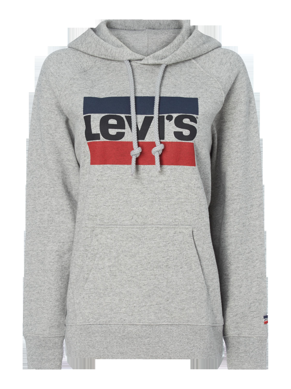 Levi's® – Hoodie mit Logo Print – Mittelgrau meliert