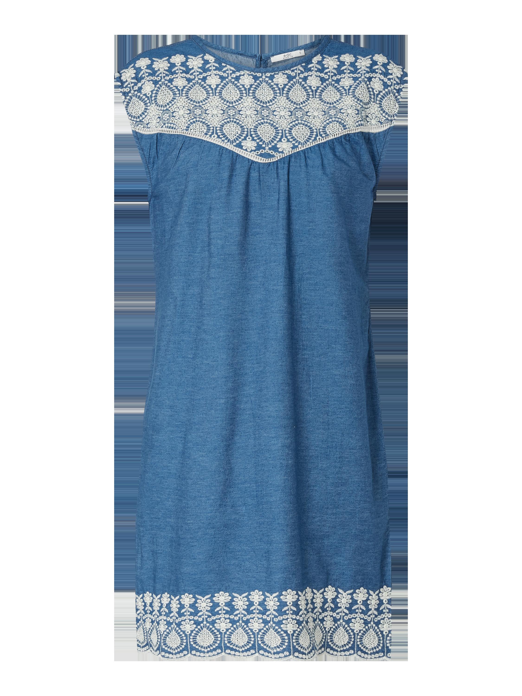 edc By Esprit – Jeanskleid mit Stickereien – Jeans