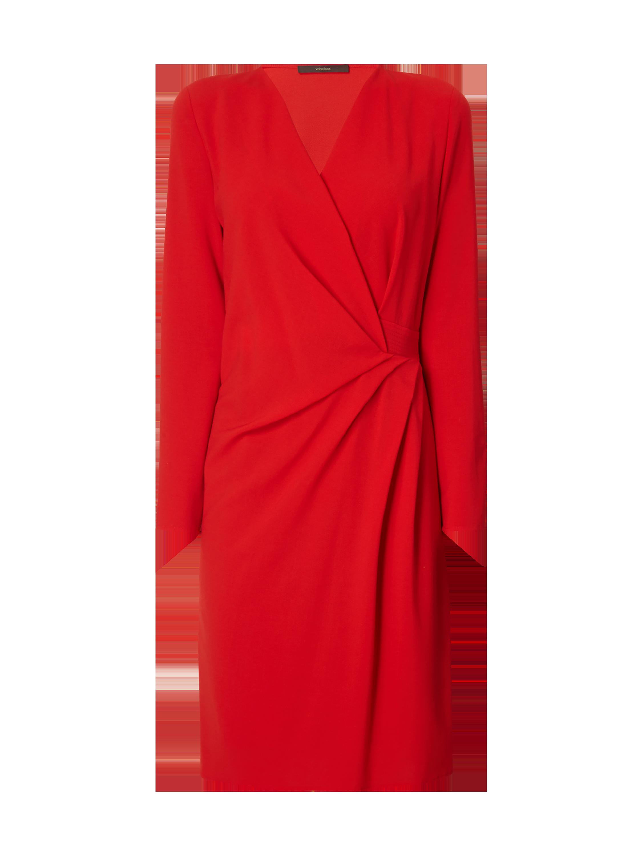 WINDSOR Kleid mit V-Ausschnitt in Wickeloptik in Rot online kaufen ...