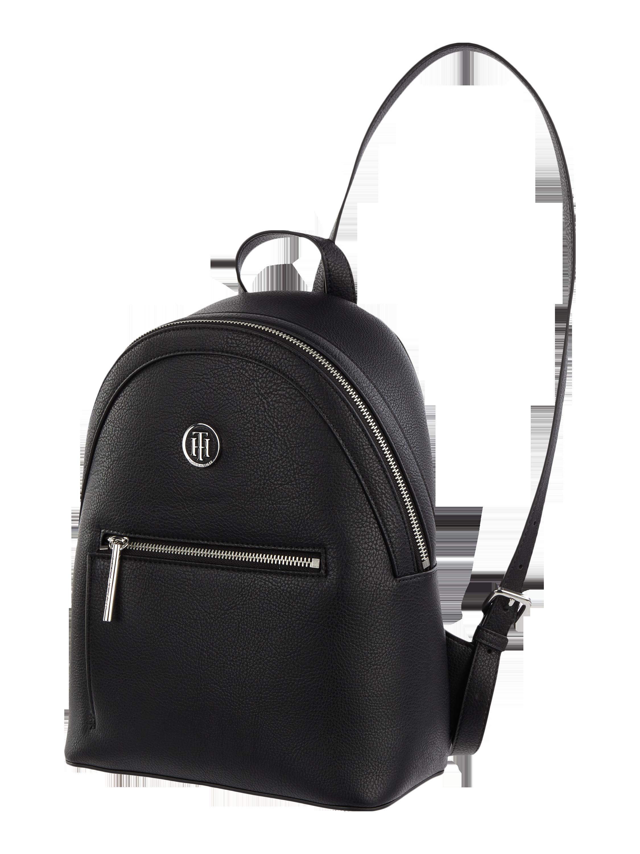 cd7a05a64b2b9 TOMMY-HILFIGER Plecak z przegródkami zapinanymi na zamek błyskawiczny w  kolorze Szary   czarny zakupy online (9762979) w P C ▷ wysyłka i zwrot 0zł