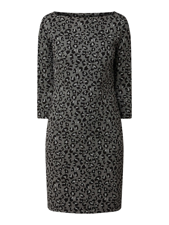 opus – kleid mit leopardenmuster – dunkelgrau