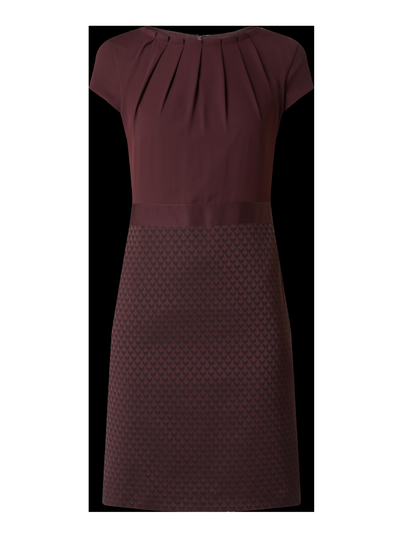 comma – Kleid mit Kappärmeln – Bordeaux Rot