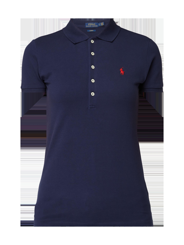 274aaf5d63a9 POLO-RALPH-LAUREN Slim Fit Poloshirt mit Logo-Stickerei in Blau   Türkis  online kaufen (203915) ▷ P C Online Shop
