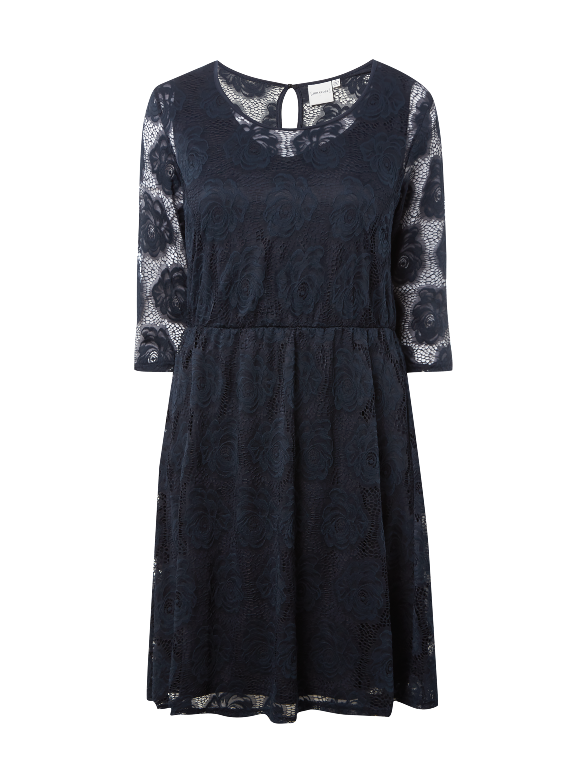 JUNAROSE PLUS SIZE - Kleid aus Häkelspitze in Blau / Türkis online ...