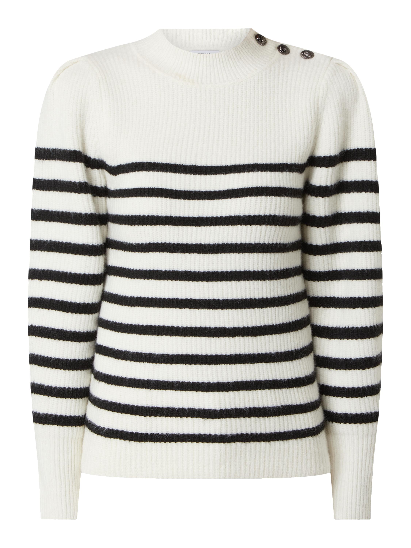 suncoo paris – pullover mit woll-anteil modell 'palmyr' – weiß