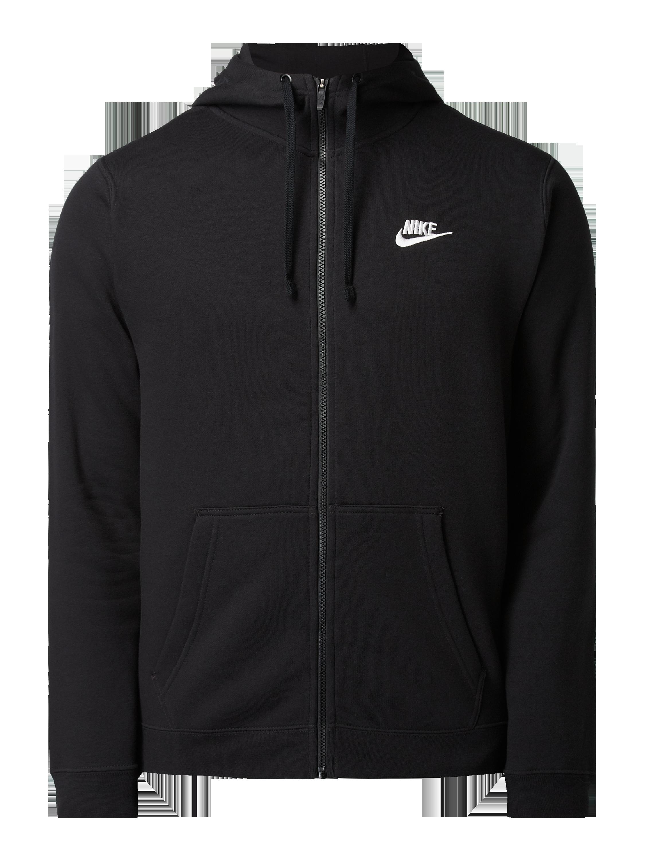 Nike – Bluza rozpinana o kroju standard fit z wyhaftowanym logo – Czarny