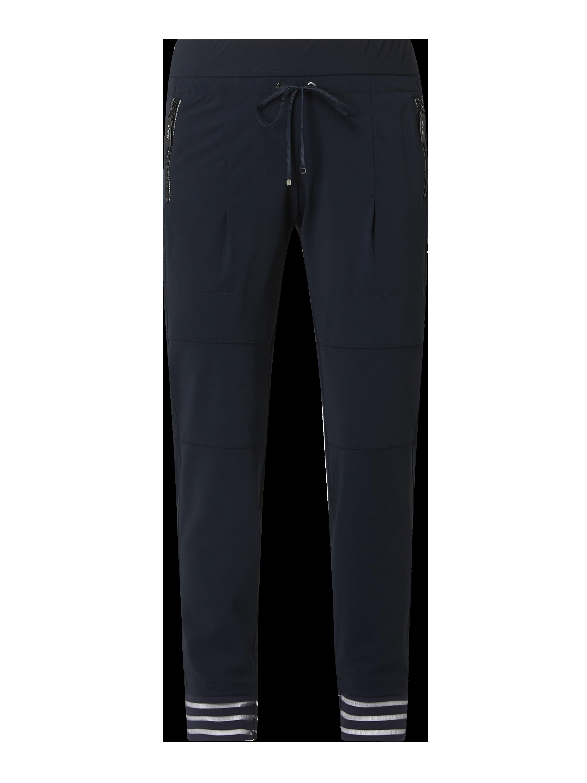 Raffaello Rossi – Slim Fit Easy Pants mit Reißverschlusstaschen – Marineblau