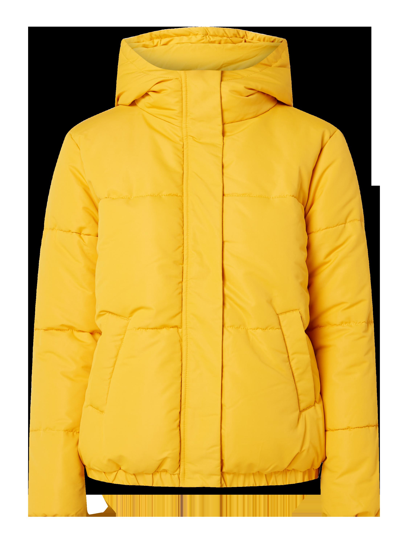 REVIEW Steppjacke mit elastischem Saum wattiert in Gelb