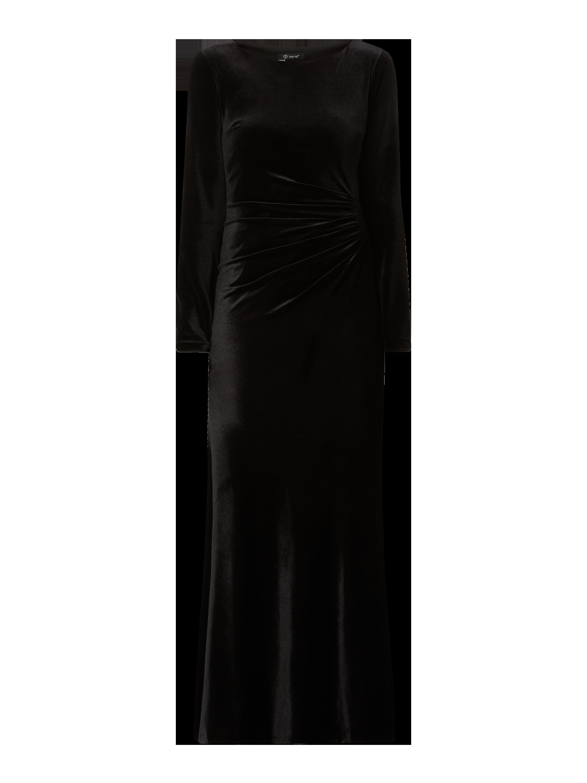 paradi – abendkleid aus samt – schwarz