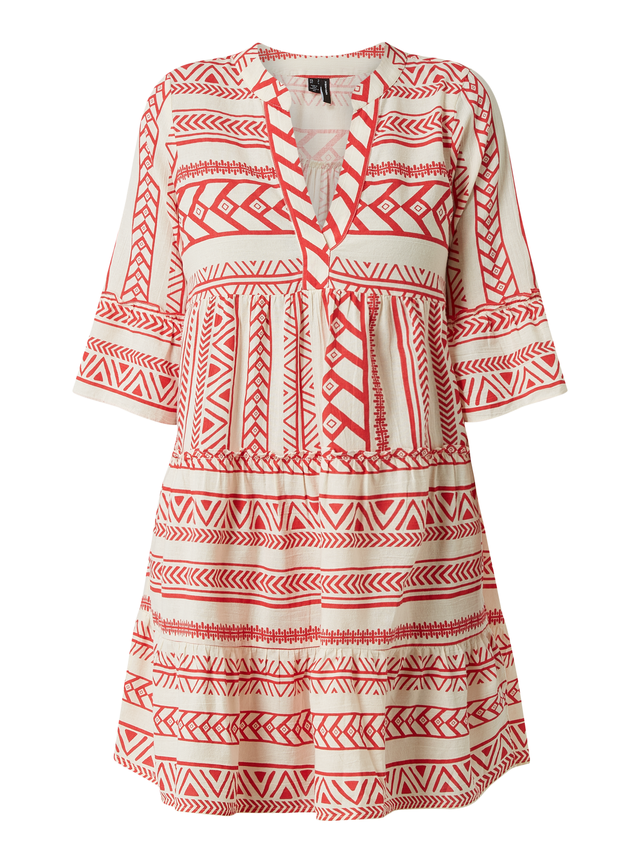 Vero Moda – Kleid aus Bio Baumwolle Modell 'Dicthe' – Rot