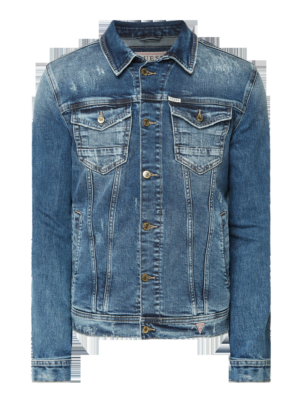 Guess – Kurtka jeansowa w dekatyzowanym stylu z efektem znoszenia – Dżins
