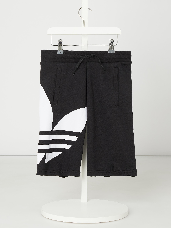 ADIDAS Originals – Szorty z dzianiny dresowej z bawełny i poliestru z recyklingu – Czarny