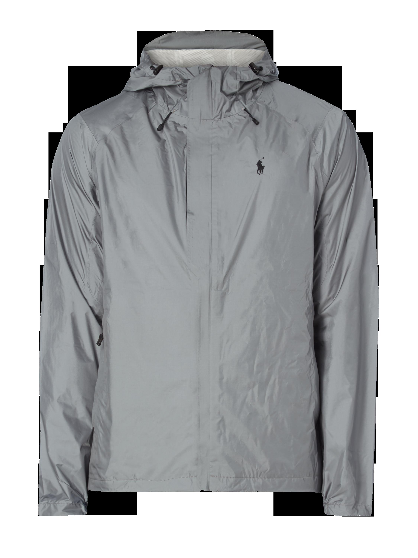 Polo Ralph Lauren Jacke mit Kapuze - wasserabweisend Grau / Schwarz - 1 ...