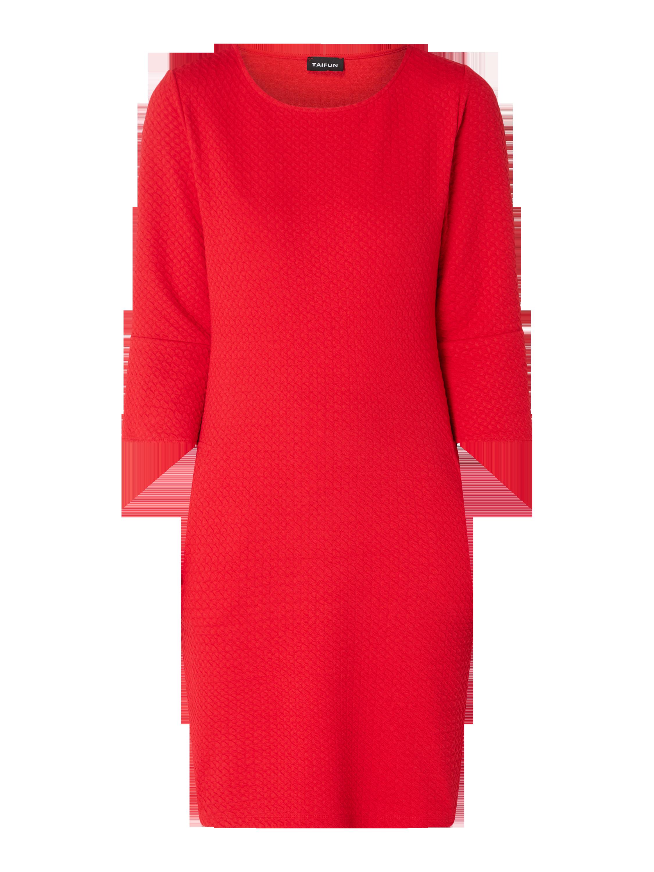 Taifun – Kleid mit Trompetenärmeln – Rot