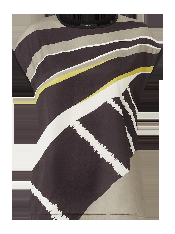 someday – shirt aus satin modell 'kori culture' – schwarz