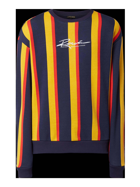 REVIEW Sweatshirt mit Streifenmuster in Rot online kaufen
