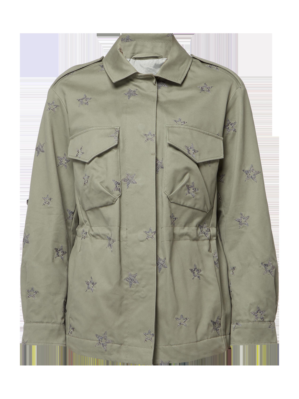 cde1ee1ee9fd BOSS-CASUAL Regular Fit Jacke mit Sternenmuster in Grün online kaufen  (9761898) ▷ P C Online Shop