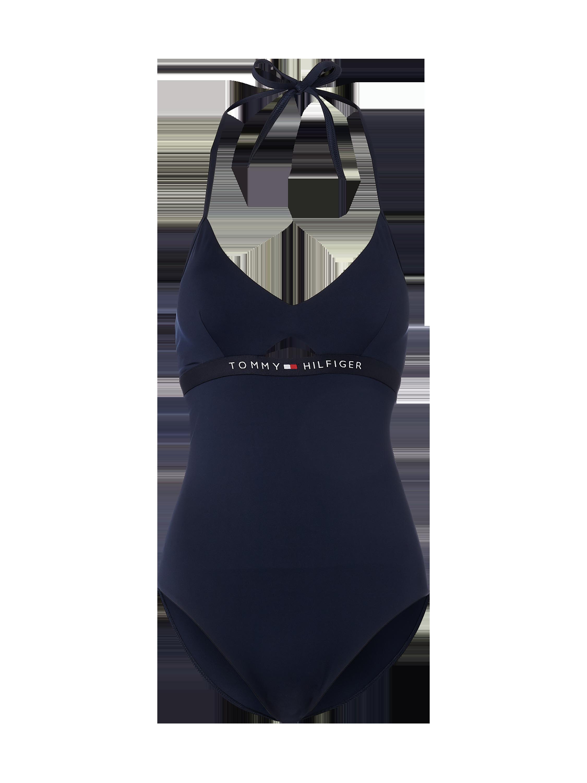 4dbc284ff5384 TOMMY-HILFIGER Kostium kąpielowy z wiązaniem na szyi w kolorze Niebieski    turkusowy zakupy online (9914072) w P C ▷ wysyłka i zwrot 0zł