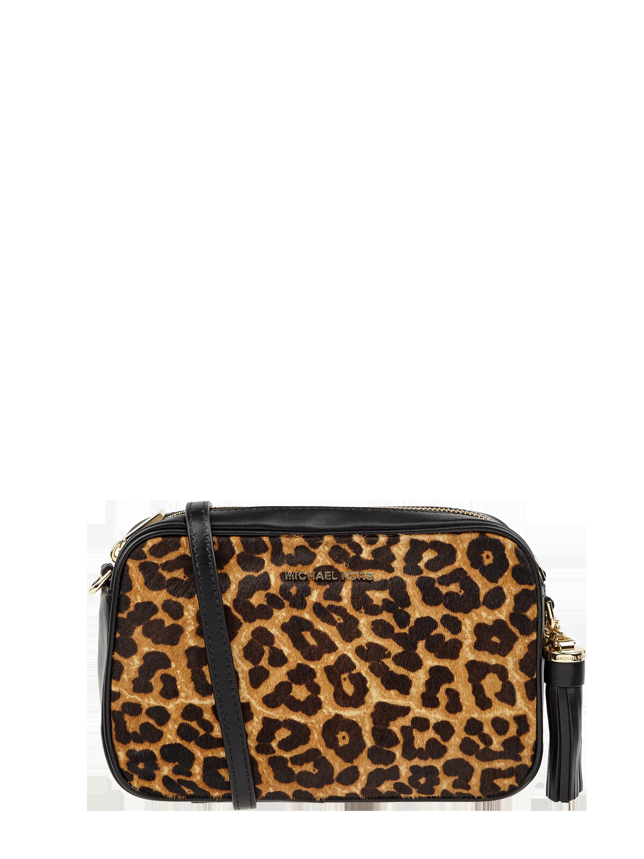 MICHAEL Michael Kors – Camera Bag mit Leopardenmuster – Cognac