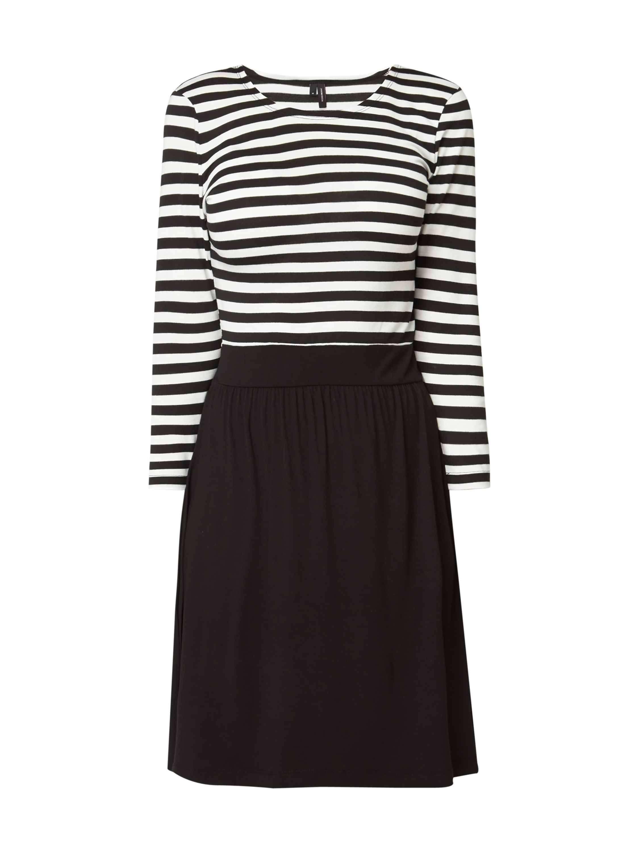 e99bc06a71 VERO-MODA Sukienka w paski w kolorze Szary   czarny zakupy online (9764300)  w P C ▷ wysyłka i zwrot 0zł