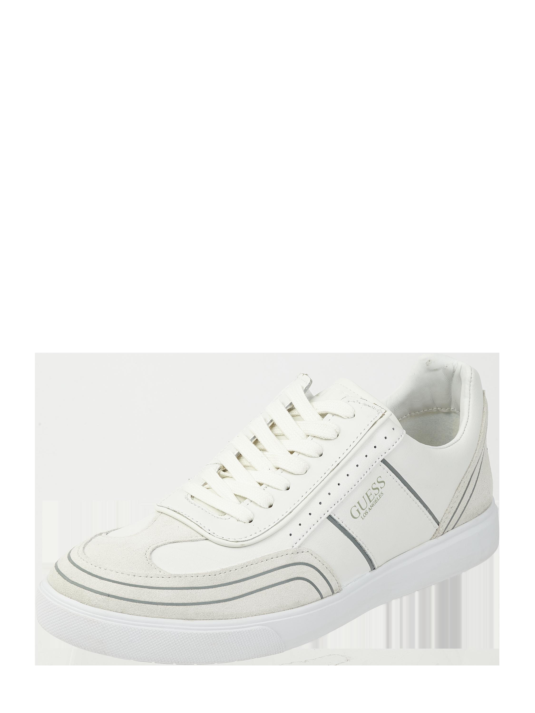 GUESS Sneakersy ze skóry naturalnej i welurowej w kolorze