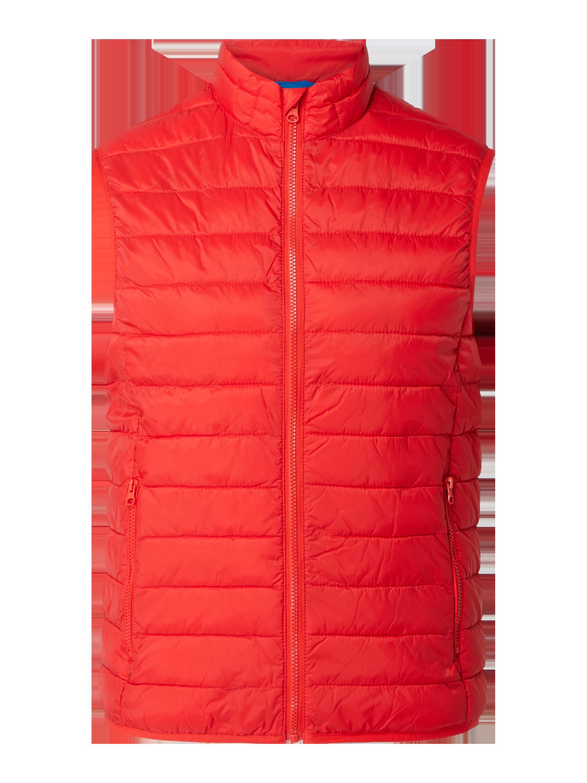 Montego – Steppweste mit Reißverschlusstaschen – Rot