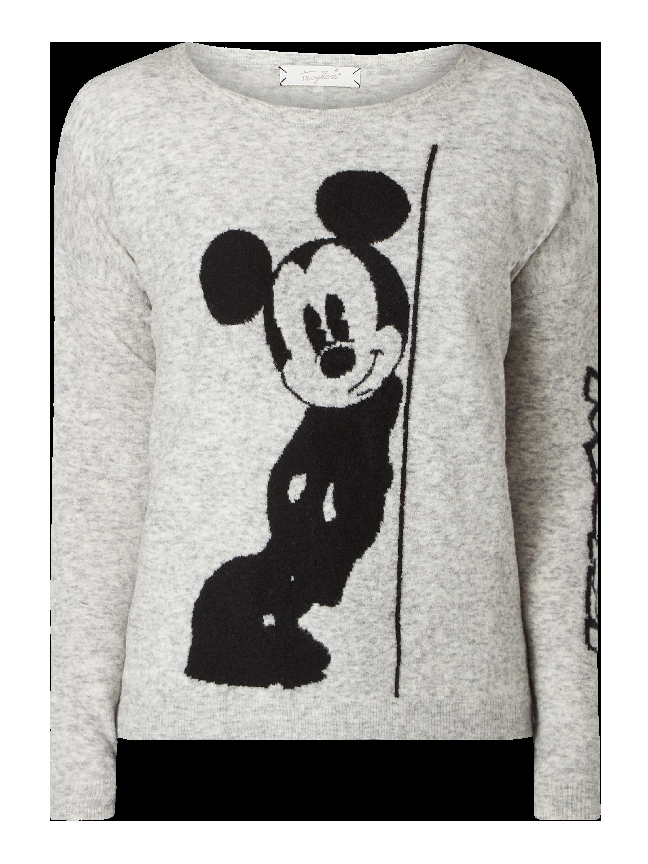 Disney© In Melange Optik Mit Stickerei Frogbox � � silber Meliert pullover H2WE9IDY