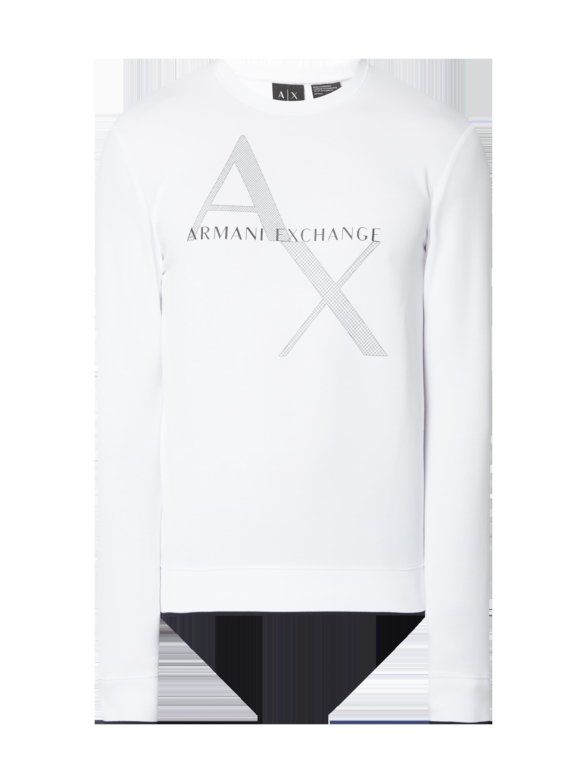 cc787f1797687 ARMANI-EXCHANGE Bluza z nadrukowanym logo w kolorze Biały zakupy online  (9758573) w P C ▷ wysyłka i zwrot 0zł