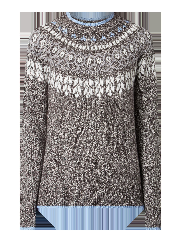 REVIEW Pullover mit Farbeffekten Damen Strick Pulli Anthrazit meliert Größe S XS