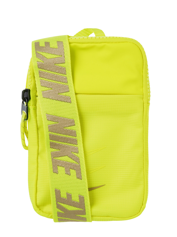 Nike – Umhängetasche mit Logo Print – Neon Gelb