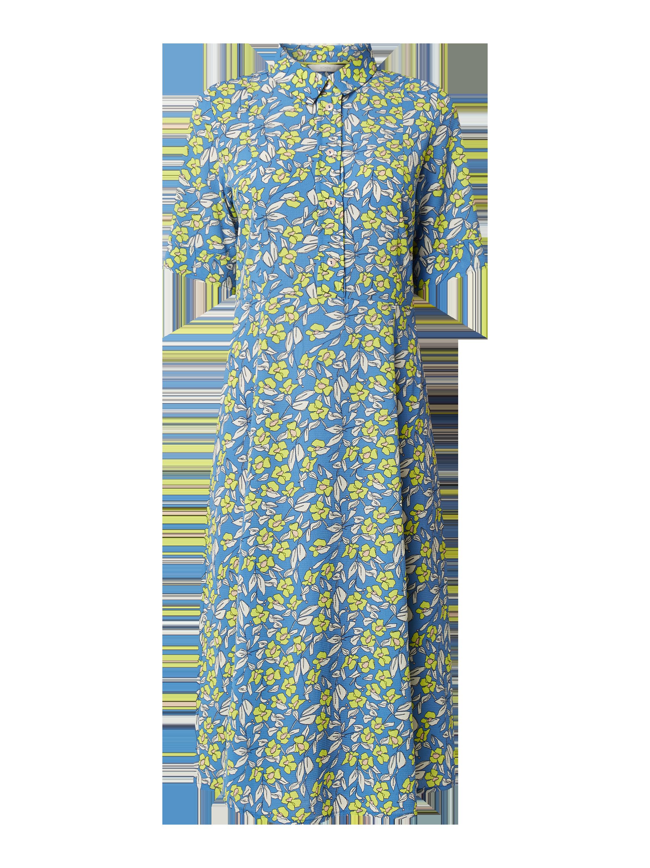 nümph – kleid mit floralem muster modell 'nuaideen' – marineblau