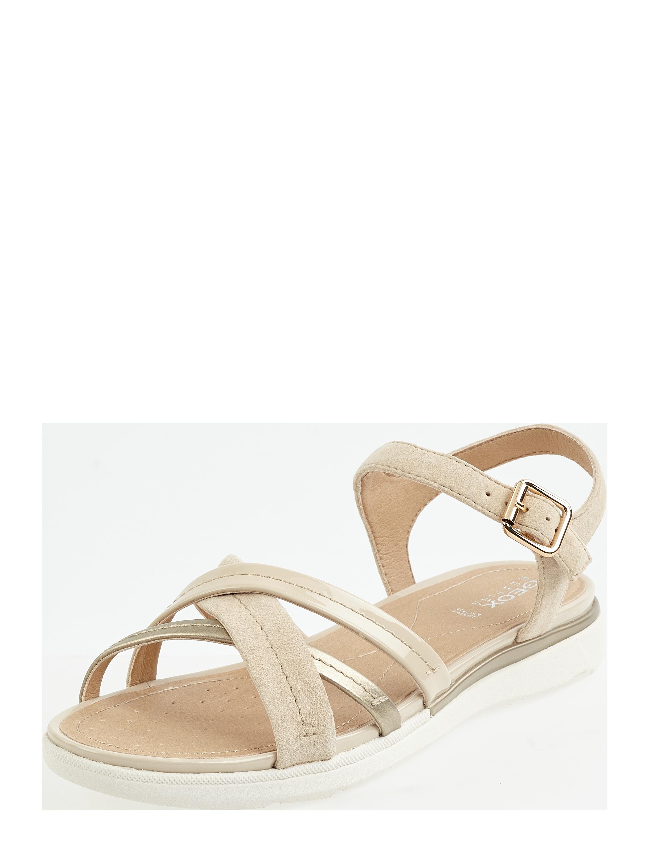 Geox – Sandalen aus Veloursleder Modell 'Hiver' – Beige