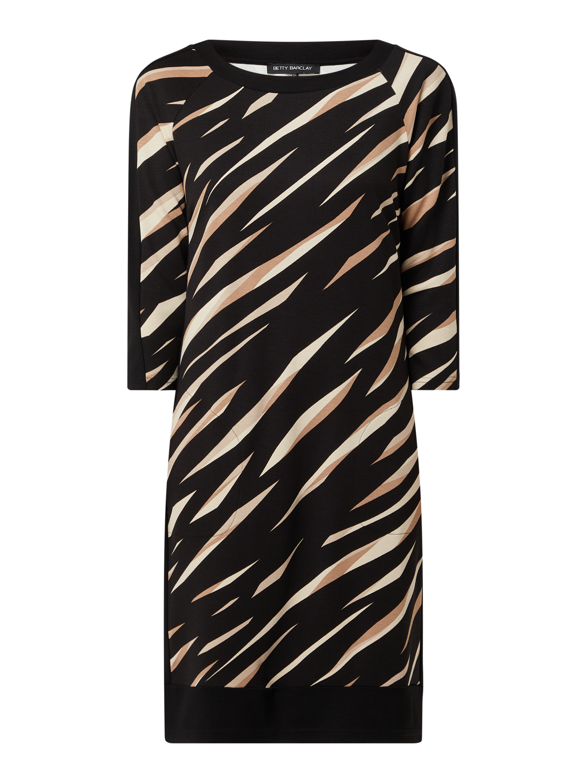 Betty Barclay Kleid Mit Allover Muster In Grau Schwarz Online Kaufen 1293275 P C Online Shop