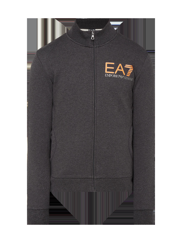 EA7-EMPORIO-ARMANI Sweatjacke mit Logo-Print in Grau   Schwarz online  kaufen (9823455) ▷ P C Online Shop 80bb847008