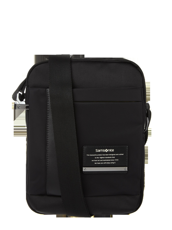 samsonite – umhängetasche mit gepolstertem tabletfach – schwarz