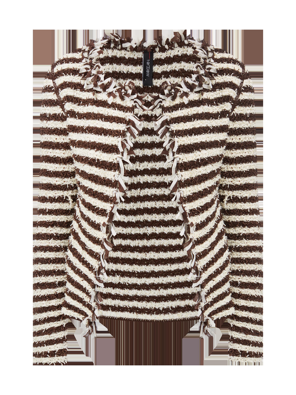 MARC-CAIN Strickjacke aus Bändchengarn in Braun online kaufen (9577891) ▷  P C Online Shop be049a5804