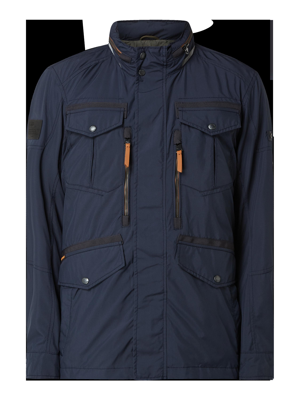 camel active – Fieldjacket mit herausnehmbarer Kapuze wetterfest – Marineblau