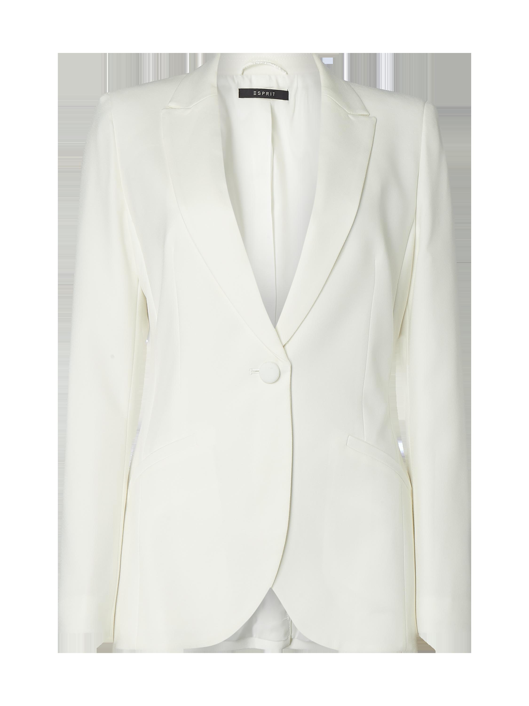 b804559a2bbece ESPRIT-COLLECTION 1-Knopf-Blazer mit Reverskragen in Weiß online kaufen  (9952237) ▷ P&C Online Shop