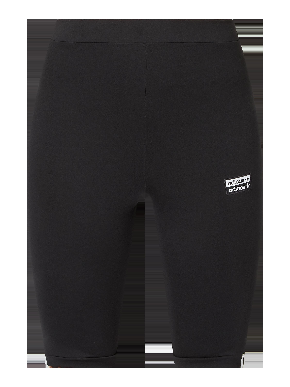 ADIDAS Originals – Spodnie kolarki z naszywką z logo – Czarny