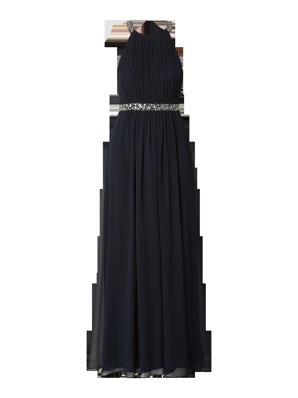 a1e3446124 JAKES-COCKTAIL Sukienka wieczorowa obszyta ozdobnymi kamieniami w kolorze  Niebieski   turkusowy zakupy online (9926728) w P C ▷ wysyłka i zwrot 0zł