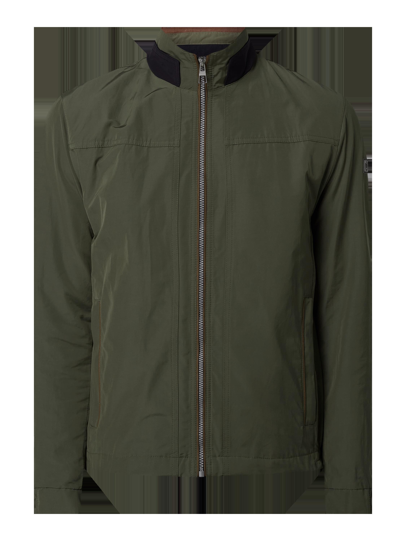 bugatti – Jacke mit Reißverschlusstaschen atmungsaktiv – Olivgrün