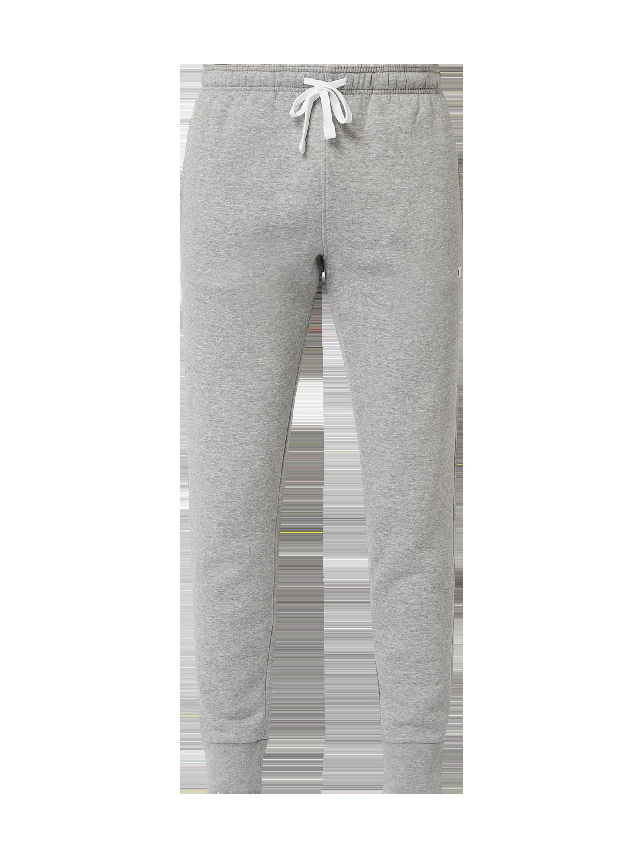 532e9fe3db666 CHAMPION Spodnie dresowe z wyhaftowanym logo w kolorze Szary / czarny  zakupy online (9888680) w P&C ▷ wysyłka i zwrot 0zł