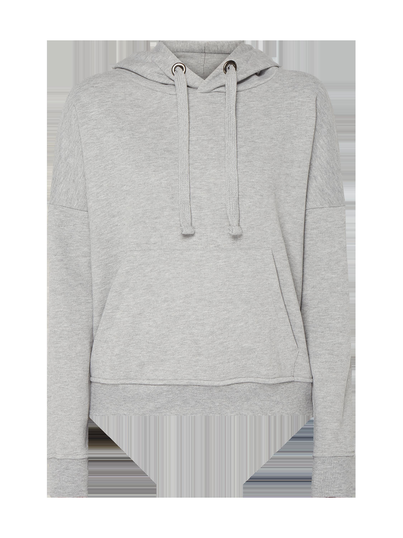 REVIEW – Hoodie mit überschnittenen Schultern – Mittelgrau