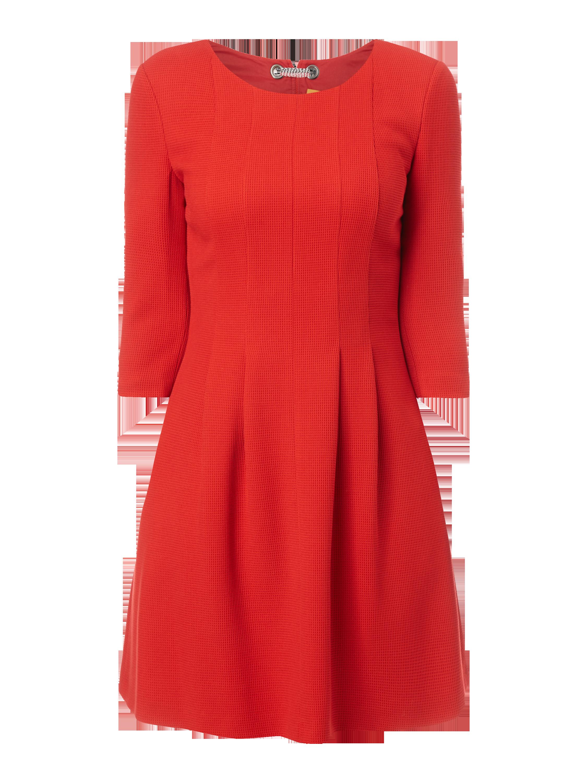 BOSS-CASUAL Kleid mit Dreiviertel-Ärmeln in Rot online kaufen ...