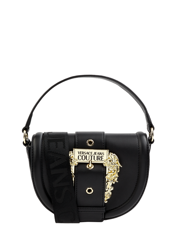 Versace Jeans Couture – Saddle Bag mit abnehmbarem Schulterriemen – Schwarz