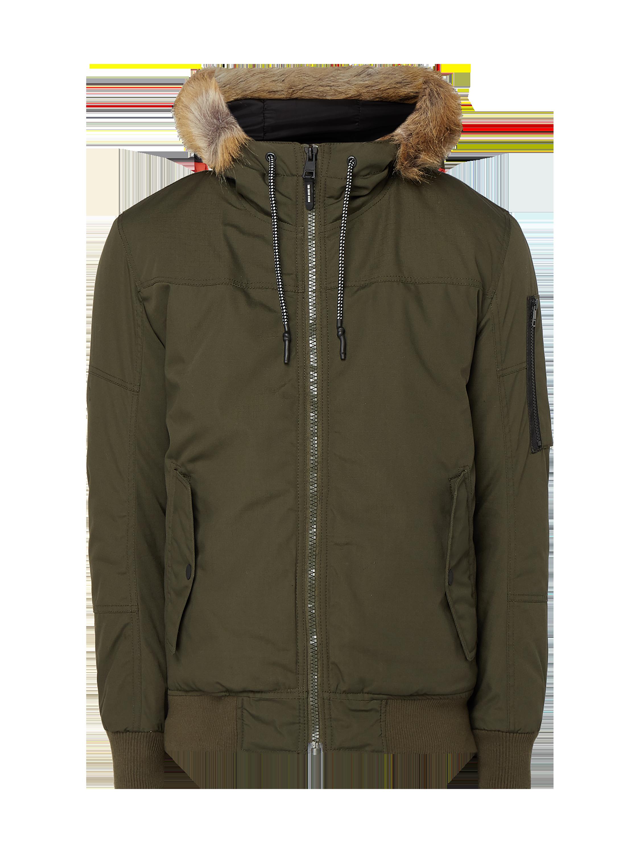 139321311b0d7 TOM-TAILOR-DENIM Kurtka z odpinanym sztucznym futrem w kolorze Zielony  zakupy online (9887049) w P&C - 20% zniżki - wysyłka i zwrot 0zł