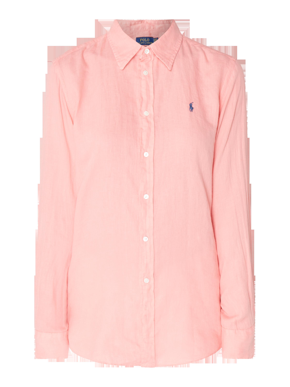 81559c34bf POLO-RALPH-LAUREN Bluzka koszulowa o kroju relaxed fit z lnu w kolorze  Ciemnoróżowy zakupy online (9798699) w P C - 20% zniżki - wysyłka i zwrot  0zł