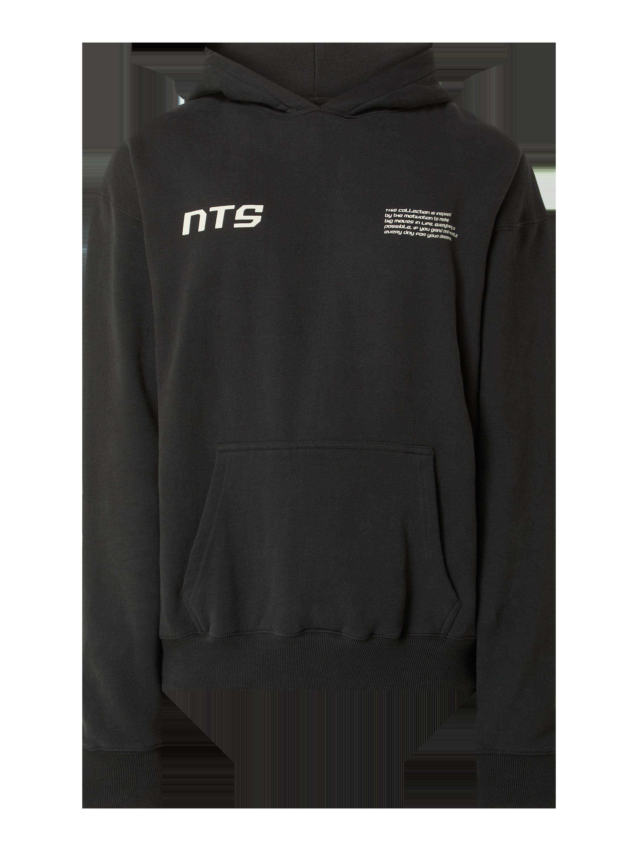 pegador – hoodie aus baumwollmischung modell 'puno' – schwarz